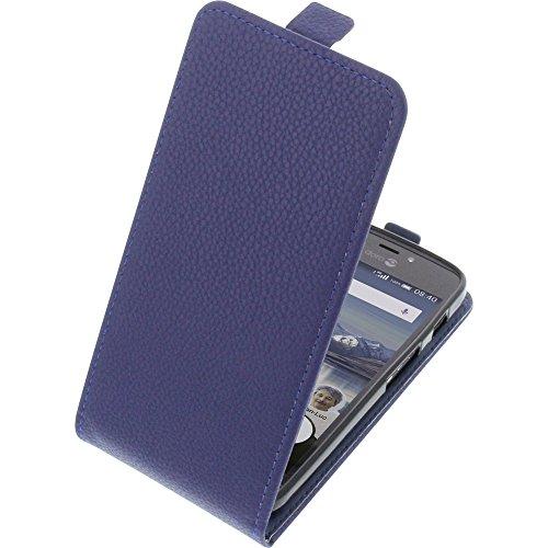 Tasche für Doro 8040 Smartphone Flipstyle Schutz Hülle blau