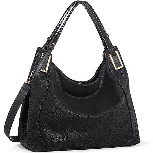 - 51X9hP7y91L - Handbags IN ANGEL Women Handbags Tote Shoulder Bags Ladies Crossbody Hobo Bags PU Leather Handbags Satchel (L39cm * W16cm * H29cm)