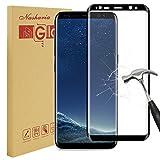 Galaxy S8protection d'écran, Nasharia Samsung Galaxy S8en verre trempé 0.25MM D'Épaisseur une couverture complète protection écran, 9H Dureté, sans formation de bulles, anti-traces de doigts film de protection d'écran HD