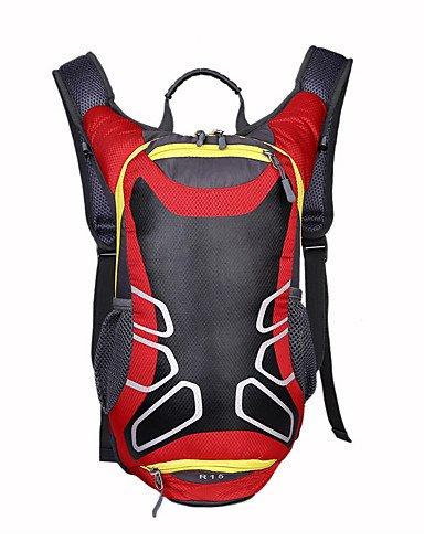 HWB/ 15 L Rucksack Camping & Wandern Draußen Wasserdicht / Kompakt andere Nylon Red