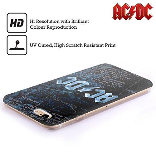 Offizielle AC/DC ACDC Hörner Logo Soft Gel Hülle für Apple iPhone 6 / 6s Text