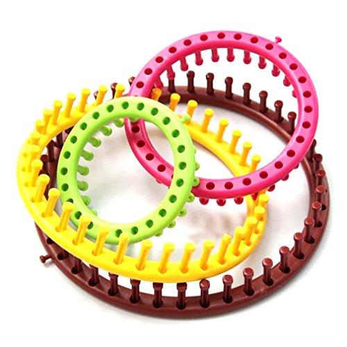 Sixmad 4 pezzi (TM) Hot Hot set DIY rotonda ABS maglieria di lana maglia Loom ago per cucire Craft Maglione maglieria circolare nuovo strumento