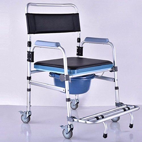 Bad Stuhl LXN Deluxe-Klappkommode mit abnehmbarem gepolsterten Sitz und Töpfchen -