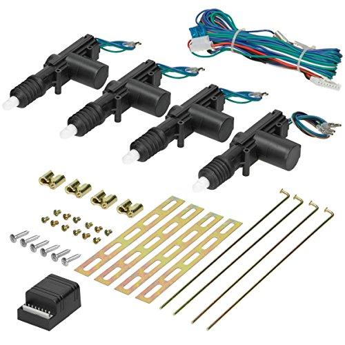 ECD Germany Sistema de Cierre centralizado Universal Set para 4 Puertas con Control Remoto inalámbrico incluído