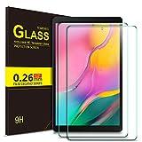 ELTD Glas Bildschirmsfolie für Samsung Galaxy Tab A T510/T515 2019, Ro&ed Corners 2.5D, 9H Härte, gehärtetes Glas Bildschirmschutz Glasfolie Panzerfolie für Samsung Galaxy Tab A 2019 10.1 Zoll (2 Stück)