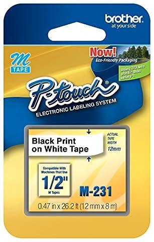 Brother M231 printer label - printer labels (White, m, 26.2 ft, 2.54 cm (1