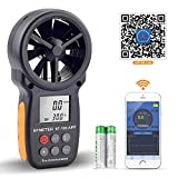 BTMETER Windmesser Digital Windgeschwindigkeits-Anemometer-Handheld,drahtloses Bluetooth-Flügelrad-Anemometer-Messgerät zur Überwachung von Windkälte,Geschwindigkeit und Temperatur BT-100APP