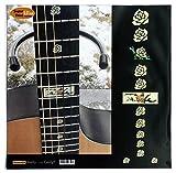 Marqueurs de palissandre incrustation Autocollant Stickers pour guitare et basse–Rose