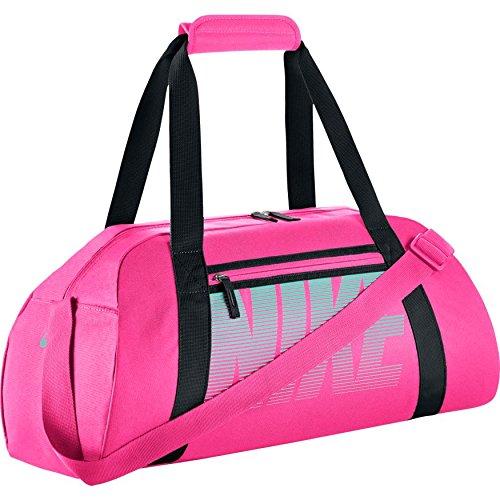 Nike Damen Women's Gym Club Sporttasche, Hyper Pink/Schwarz/Hyper Türkis, One Size Nike Lady-clubs