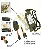 Storite USB 2.0 to SATA/IDE Adapter Kit with Power Adapter for 2.5/3.5/5.25 inch SATA or IDE Drive