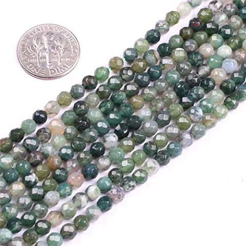 Sweet & Happy Girl'S Store 4mm Tiny Round Faceted Moss