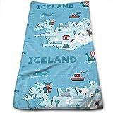 Pillowcase shop Iceland Map Maximum Softness and Highly Absorbent Printed Towel Bath Towel Hand Towel Hair Towel