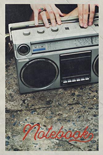Notebook: Ghetto Blaster Boombox Gorgeous Composition Book Journal Diary for Men, Women, Teen & Kids Vintage Retro Design Rap Battle 80s Hip Hop Fans