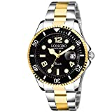 Longbo Master Royale Stainless Luxury Analog Watch for Men (Gold)