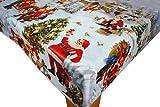 Christmas Scene 1 PVC Vinyl Oilcloth Tablecloth by Karina Home 200cm x 140cm