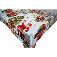 Karina Home Christmas Scene 1 PVC Vinyl Oilcloth Tablecloth 200cm x 140cm