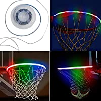 Luces LED de aro de Baloncesto, llanta de Baloncesto con energía Solar Luz LED Accesorios de Red de Baloncesto para Adultos Fiesta de niños