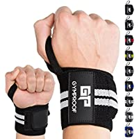 GYMPROOF - Premium-Handgelenkbandagen im 2er Set - Wrist Wraps - für optimalen Trainingserfolg im Fitness, Bodybuilding, CrossFit, Kraftsport und Powerlifting [geeignet für Frauen & Männer]