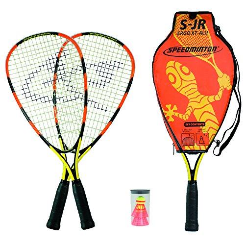 Speedminton S-JR Set de badminton mixte enfant Orange/Jaune