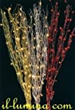 Energiesparende-Zweige rot 120cms mit 50Lichtern. Ideal für Weihnachtsdekoration