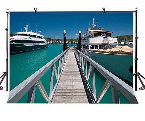 GzHQ 7x5ft Hamilton Island Kulisse Charming Hamilton Island Reise Fotografie Hintergrund und Studio Fotografie Kulisse Requisiten LYXC038 -