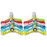 Cozywind Appendiabiti in legno per Bambino multicoloreilauke Set di 12 antiscivolo in motivi per appendiabiti per bambini, multicolore
