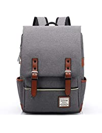 cc19a52223c5 HASAGEI Vintage Unisex Casual School Bag Travel Laptop Backpack Rucksack  Daypack Tablet Bags