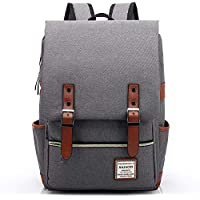 HASAGEI Vintage Unisex Casual School Bag Travel Laptop Backpack Rucksack Daypack Tablet Bags