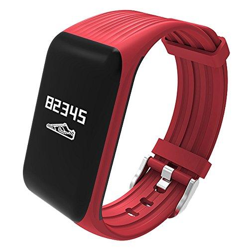 TikTako Intelligentes Armband Sportarmband, Smart Step 0,66 Zoll OLED-Display, IP68 wasserdicht, Unterstützung Herzfrequenzmesser/Schrittzähler/Anrufe erinnern/Schlaf-Monitor/Sitzende Erinnerung/Rem -