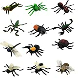 Homyl 12 Stück Mini Lebensechte Kunststoff Insekten Kinder Pädagogische Spielzeug - Mehrfarbig