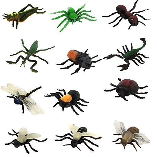MagiDeal 12pcs Plastik Insekten Tier Modell Gesetzt Kinder Spielzeug Mehrfarben-