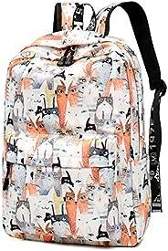 Simple Style Women Cat Printed School Backpacks Large Capacity Waterproof Schoolbag Rucksacks Casual Student Bookbags