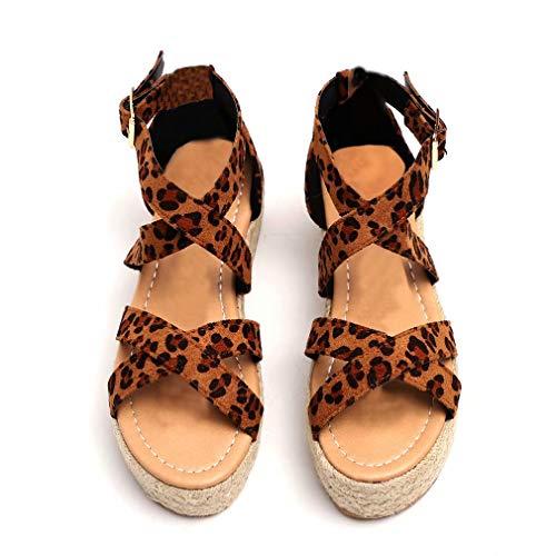 Sandalias Mujer Cuña Plataforma Zapatillas Playa