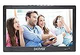 Denver LED-1031 tragbarer LED-Fernseher mit integriertem digital TV-Tuner, DVB-T Antenne, Fernbedienung und USB-Port, 25,6 cm (10,1 Zoll)