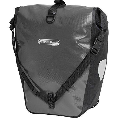 Ortlieb Gepäckträgertasche Back-Roller Classic Ql2.1 Paar, asphalt-schwarz, 42 x 32 x 17 cm, 40 Liter, F5305