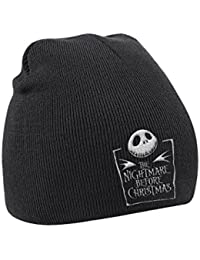 The Nightmare Before Christmas Bonnet Movie Logo officiel Homme nouveau Noir
