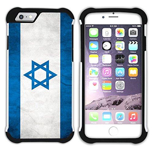 Graphic4You Vintage Uralt Flagge Von Neuseeland Neuseeländer Design Hart + Weiche Kratzfeste Hülle Case Schale Tasche Schutzhülle für Apple iPhone 6 / 6S Israel Israelisch