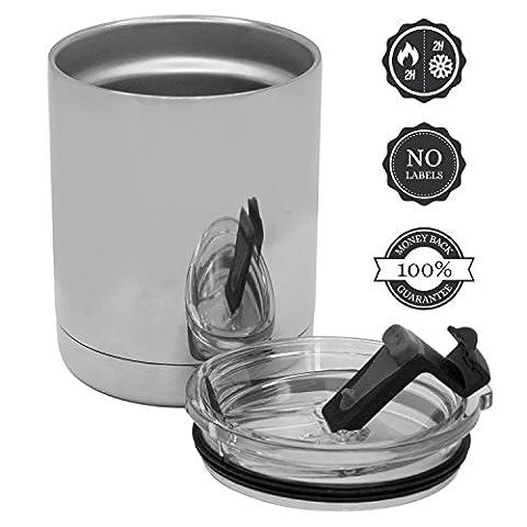 Tasse de café Voyage sur le Go - isolé / acier inoxydable Coupe Thermos 300ml - 100% Satisfait ou Remboursé