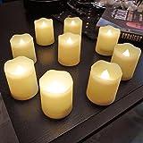 9 LED Kerzen [Timer , Fernbedienung & Batterien] - 3 Modi Dimmbare Teelichter LED Votive Weihnachtskerzen für Weihnachtsbaum, Weihnachtsdeko, Hochzeit, Geburtstags, Party Test
