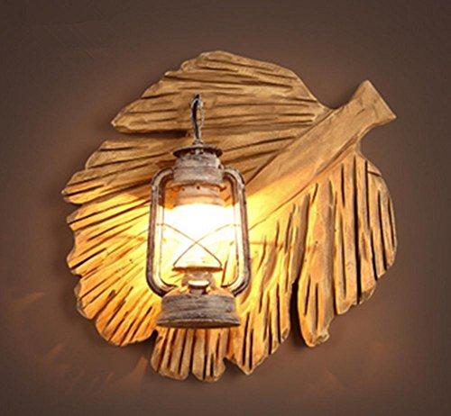HHORD Blatt-Knopf-Stadt-Art-Wand-Licht Kreative personifizierte Kerosin-Lampe Induktivität Transformator Einzelne Retro Kaffee-Thema-Restaurant-Wand-Licht (50 * 41cm) Transformatoren Stadt