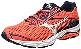 Mizuno Wave Legend, zapatos de hombre, rojo (Fierycoral/blanco/Dressblues), 44 EU