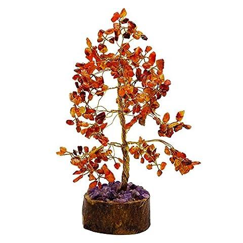 Harmonize Carnelian Reiki Healing Stones Tree Spiritual Feng Shui Table Décor