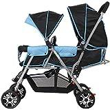 Poussette bébé Twins Sit ou Stand Grand cadeau de jouet pour les filles Système de sécurité Et sièges inclinables Double bébé Pram Fonction multiple Joggeur