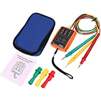 SM852B Probador de rotación trifásica Detector de fase digital LED Zumbador Medidor de secuencia de fase