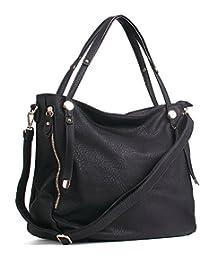 CASELAND PU Leder Taschen Henkeltaschen Large Tote Schultertaschen Damen Umhängetasche Handtaschen Damen Tasche (L:36cm * H:33cm * W:17cm)