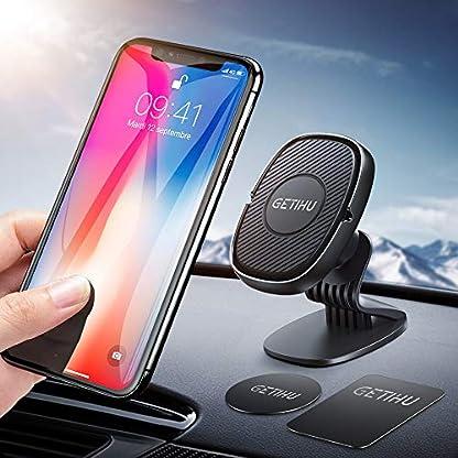 GETIHU-handyhalter-frs-auto-360Grad-Drehung-Armaturenbrett-handyhalterung-auto-magnetische-Universelle-KFZ-Handyhalter-mit-GPS-kompatible-mit-iPhone-Samsung-Galaxy-Huawei-Motrola-Oneplus-und-mehr