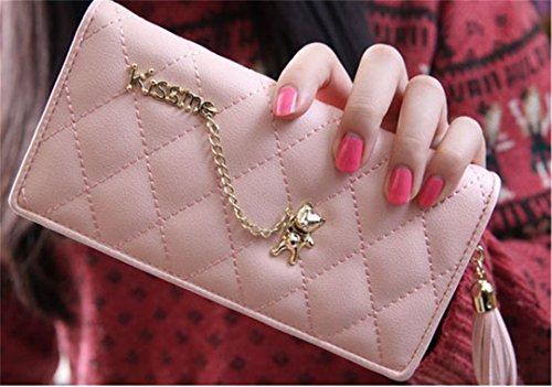 Borsa Da Sera A Spalla Lunga Casual Da Donna Jothin Tracolla In Pelle Intrecciata Con Pochette Rosa (rosa)