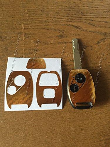 Emblem Civic Honda Chrom (Carbon Folie / Gebürstet Brush Dekor Schlüssel Dekor Cover CR-V R Civic Aord Inside CR-Z (Chrom Gold))