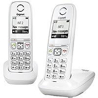 Gigaset AS405 Duo Téléphone sans Fil DECT/GAP Blanc