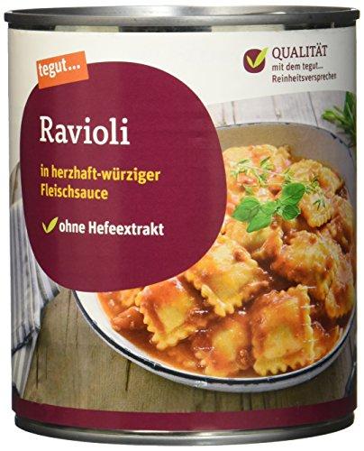 Tegut Ravioli in Fleischsauce, 800 g (Pantry Prime Getränke)